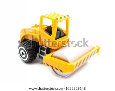 Construction Equipment Toys isolated on white