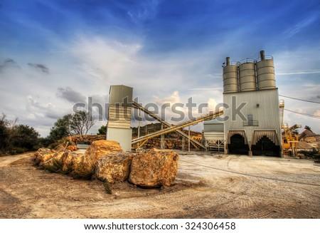 construction factory - stock photo