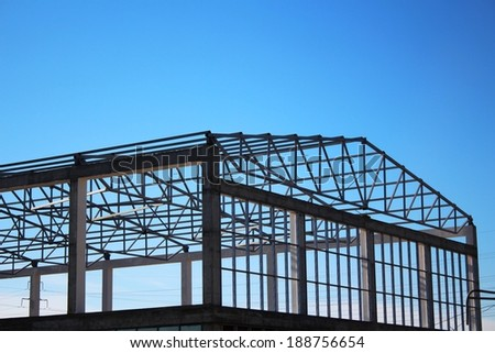 Construction framing - stock photo