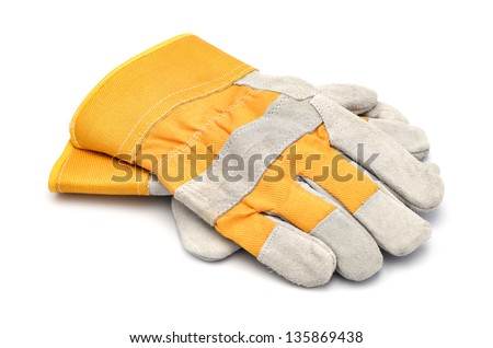 Construction gloves - stock photo
