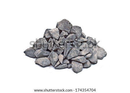 construction gravels - stock photo