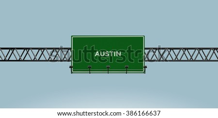 construction green road sign austin