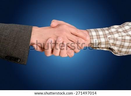 Construction, Handshake, Business. - stock photo