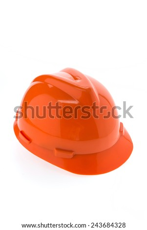 Construction hard hat - safety helmet isolated on white background