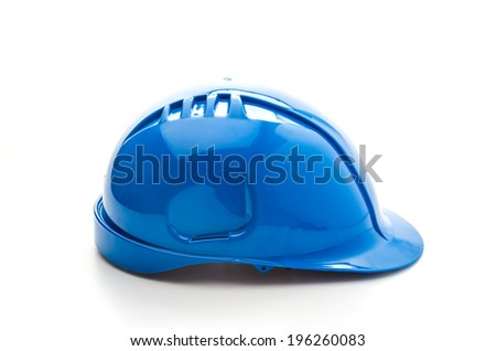 Construction hat isolated on white