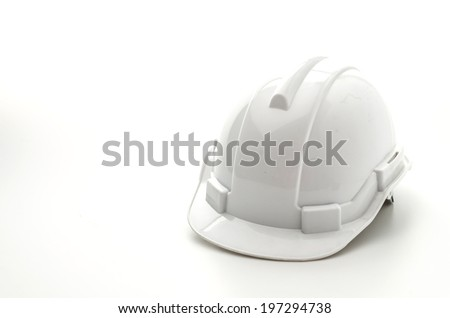Construction hat isolated on white - stock photo