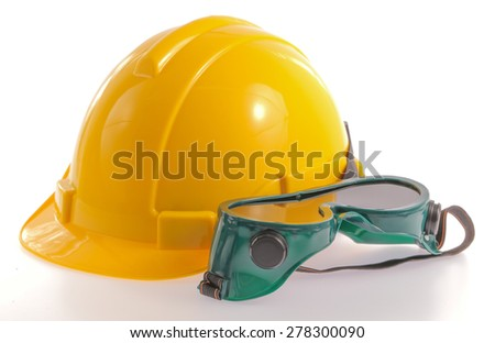 Construction hat isolated on white background