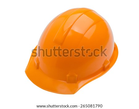Construction helmet on a white background - stock photo