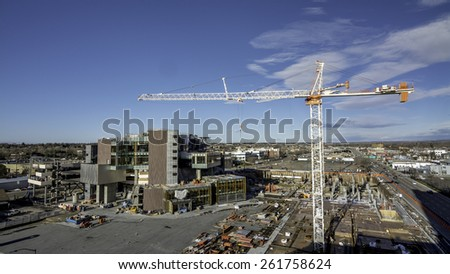 Construction in downtown Boise Idaho - stock photo