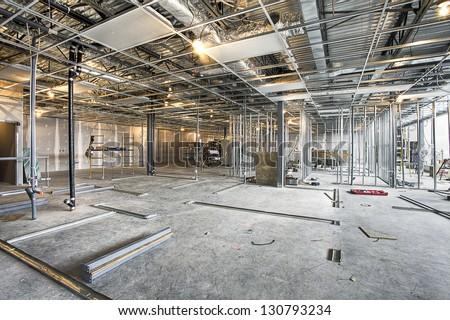 construction interior - stock photo