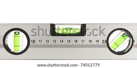 construction level isolated on white background - stock photo