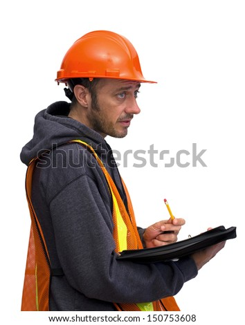 construction man - stock photo