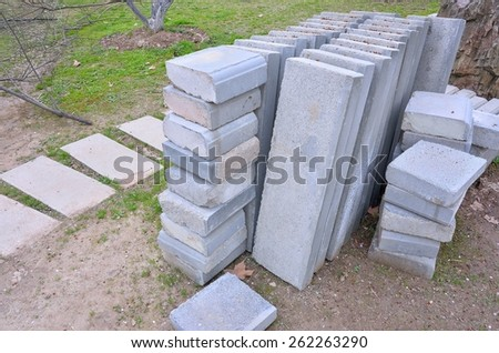 Construction material -- Paving Stone - stock photo