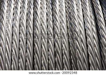 Construction Material - Roll of Metal Wire Strands - stock photo