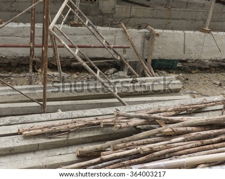Construction materials, concrete pole pile