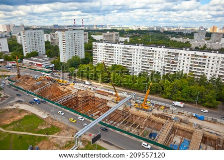 Construction of a new metro line in Moscow