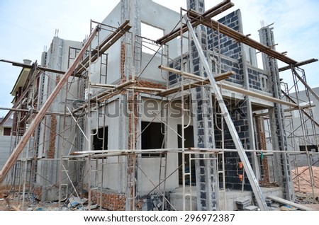 Construction Of Building new home two-storey, Thailand