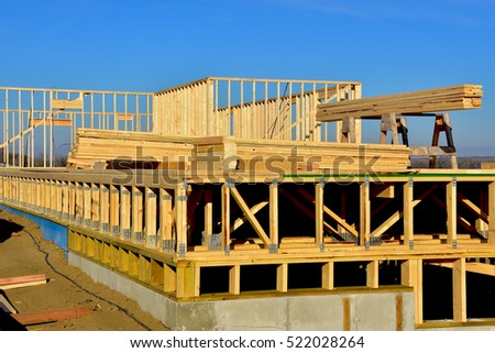construction of concrete and wood frame building and materials - Wood Frame Building