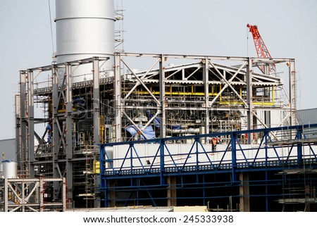 Construction of gas combine cycle power plant 800 MW