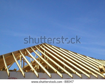 Construction Of House Roof Rafters.