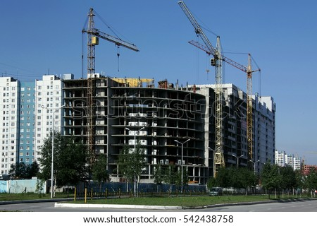 Construction of residential houses.