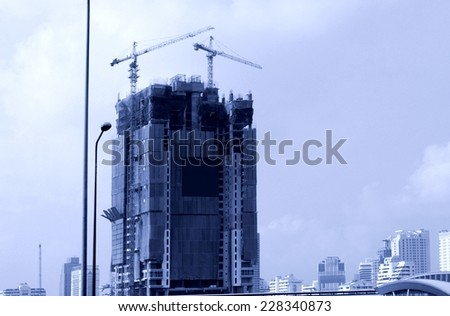 Construction of tall buildings in Pattaya