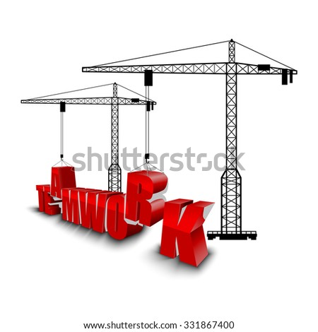 Construction of teamwork background