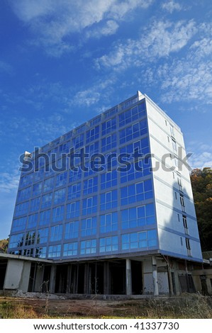 Construction office building - stock photo