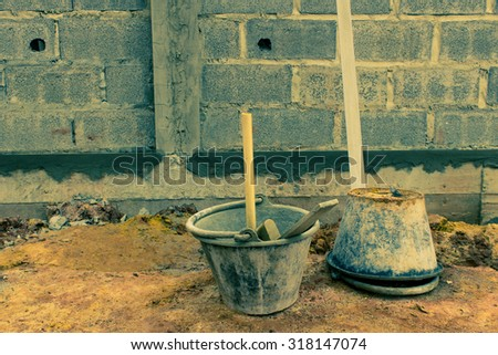 construction Plaster Tool - stock photo