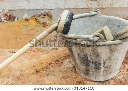 construction Plaster Tool - stock photo