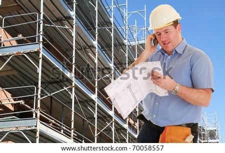 Construction Project Architect - stock photo