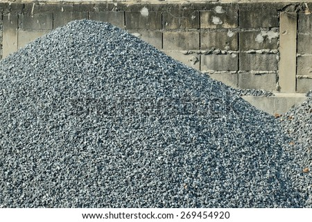 Construction rocks - stock photo