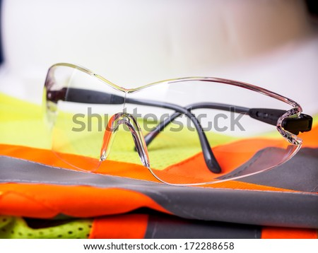 Construction safety equipment - stock photo