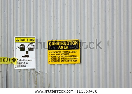 Construction Sign - stock photo