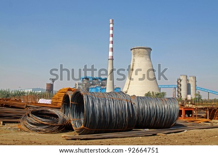 construction site, a sewage treatment plant, North China.