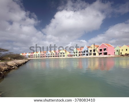 Construction site at Bonaire island - stock photo