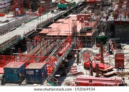Construction site building. - stock photo