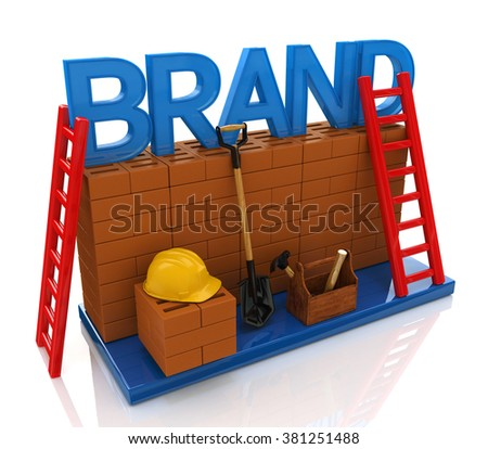 Construction site building brand text idea concept in the design of information related to business - stock photo