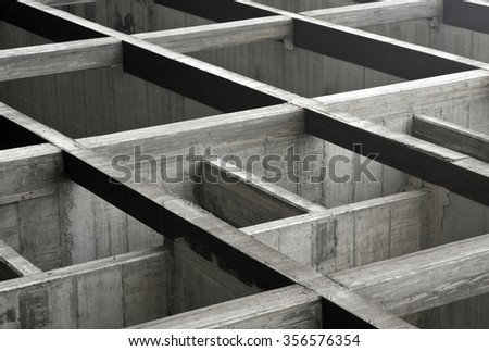 construction site, concrete structure of new building  - stock photo