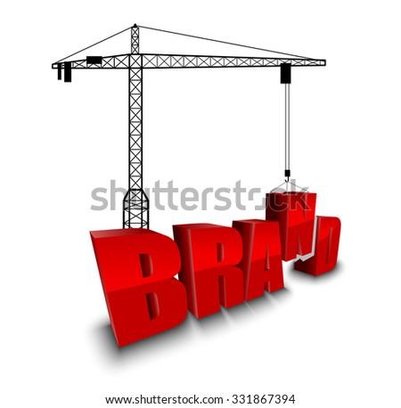 Construction site crane building background - stock photo