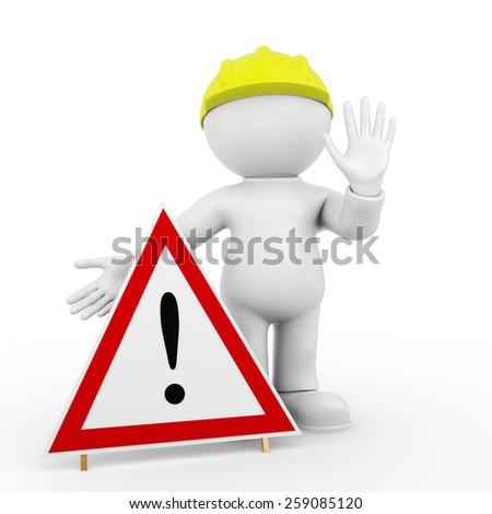 construction site - enter forbidden - stock photo