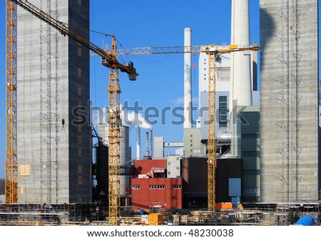 Construction site for a new power plant