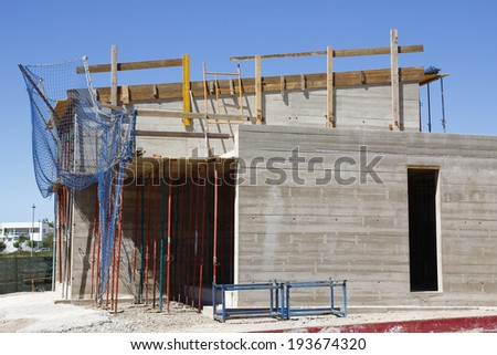 Construction site of a residential house