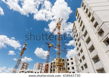 Construction site of apartment building