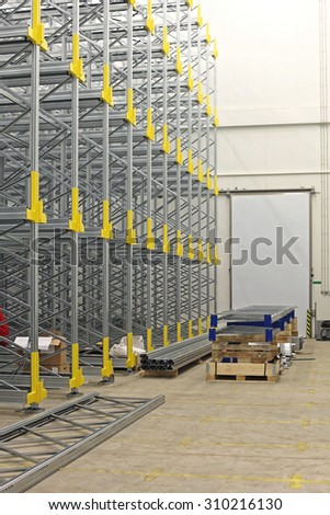 Construction Site of Automated Distribution Warehouse