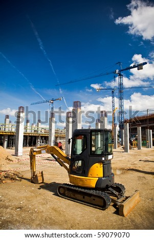 Construction site of football stadium in Wroclaw. Preparation for Euro 2012 football championship. - stock photo
