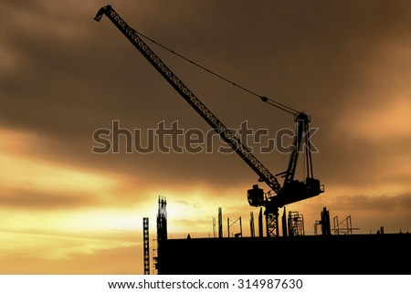 Construction Site silhouettes