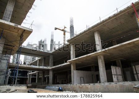 construction site thailand - stock photo