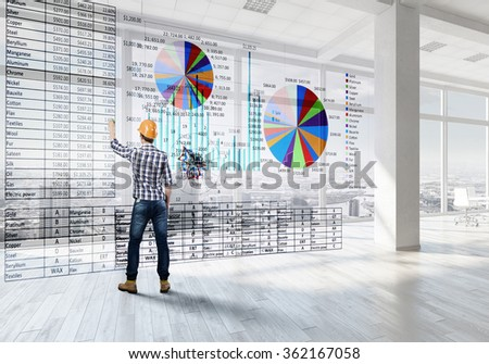 Construction strategy and planning  - stock photo