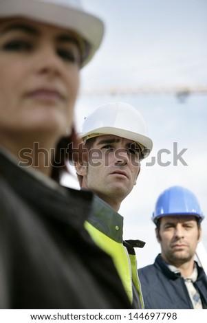 Construction team - stock photo
